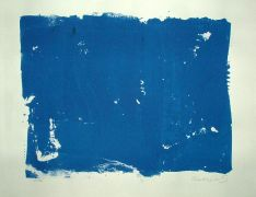 Original art for sale at UGallery.com | Blue White by Robert Darabos | $225 | printmaking | http://www.ugallery.com/printmaking-blue-white