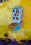 Original art for sale at UGallery.com | Apartment by Fumiko Toda | $1,450 | mixed media artwork | http://www.ugallery.com/mixed-media-artwork-apartment