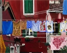 Original art for sale at UGallery.com | Venetian Laundry by Patricia Freeman | $475 | acrylic painting | http://www.ugallery.com/acrylic-painting-venetian-laundry