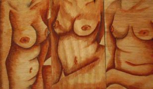 Nudes art,pencil drawing,The Three Fates