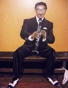 Original art for sale at UGallery.com | Andrew Loves the Clarinet by Patricia Freeman | $425 | acrylic painting | http://www.ugallery.com/acrylic-painting-andrew-loves-the-clarinet