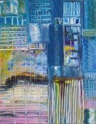 Discover Original Art by Maria Dimanshtein | City by the Lake oil painting | Art for Sale Online at UGallery