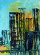 Discover Original Art by Maria Dimanshtein | Downtown oil painting | Art for Sale Online at UGallery
